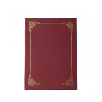 Hard Cover Certificate Holder - Maroon / 20pcs